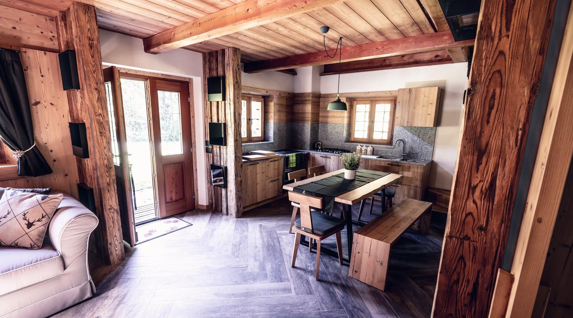 Cucine Per Chalet Di Montagna vacanze in baita nelle dolomiti del brenta: baita valon